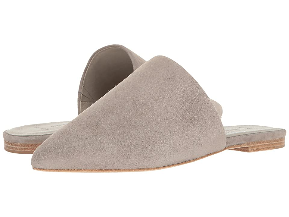 Kennel & Schmenger Pointed Flat Slide (Ghost Suede) Women