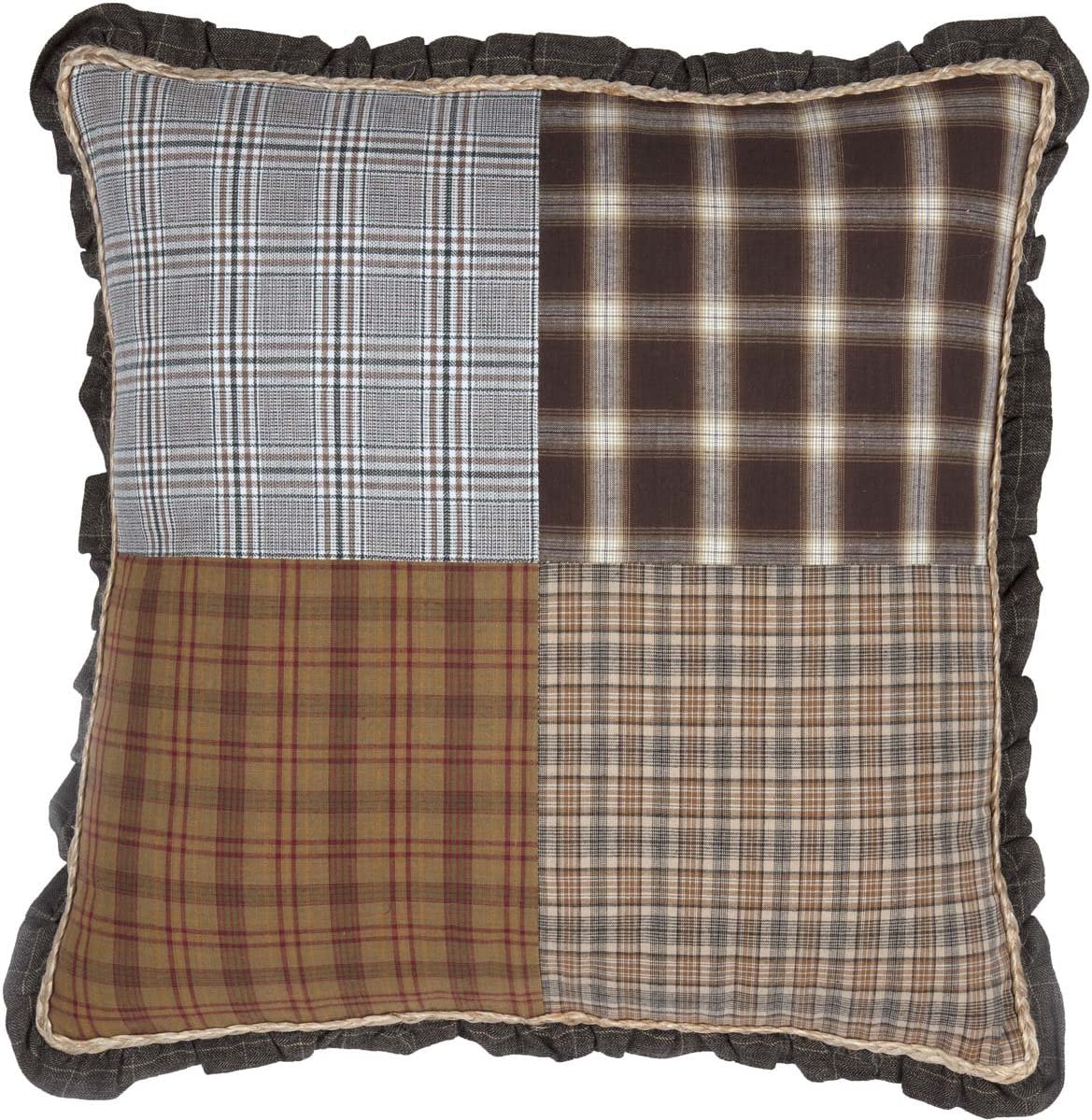 Price New product! New type reduction VHC Brands Rustic Lodge Farmhouse Pillows Throws - Grey Rory