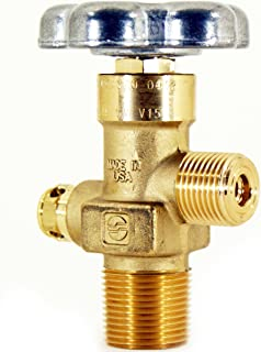 Sherwood CO2 Gas Service Brass Cylinder Valve | Tapered Thread | CGA320 Outlet | Alloy Hand Wheel | 3775 PSI Type CG-1 PRD | 3/4 NGT+7 Over Sized Inlet | for Beverage - Industrial Applications