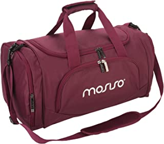 Mosiso Polyester Fabric Foldable Travel Luggage Multifunctional Duffels Lightweight Shoulder for Men/Ladies Gym Bags, Sports, Vacation, Wine Red