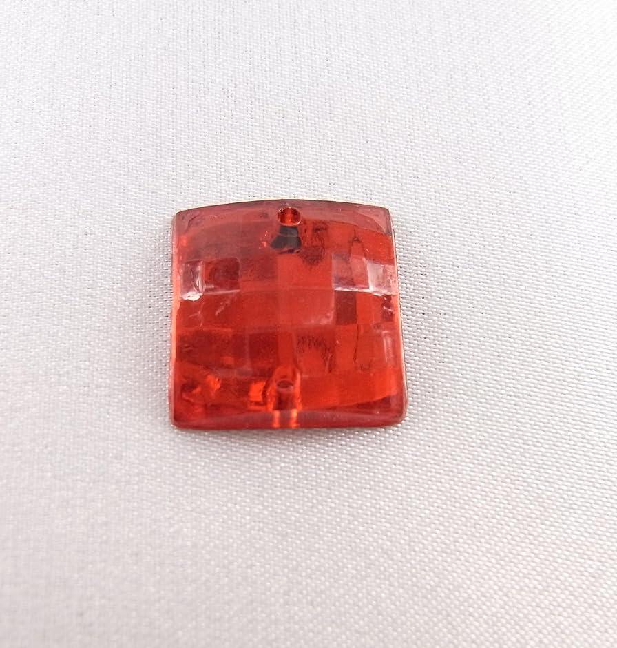 曲含める保守可能【アクリルストーン】 ST-sc-RR01 正方形 スクエアカット 14x14㎜ (赤) 30個 アクリルラインストーン