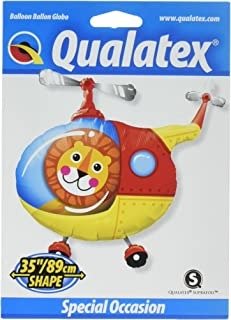 Qualatex Lion Helicopter Pilot Foil Balloon, 35-Inch Size