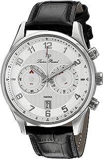 ルシアンピカール腕時計メンズ Lucien Piccard Men's LP-11187-02S Navona Analog Display Quartz Black Watch [並行輸入品]