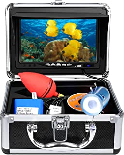 Anysun Underwater Fish Finder - Professional Fishing Video Camera with 7 TFT Color LCD HD Monitor 700TVL,  CCD 15M Cable Length with Carry Case - Fun to See Fish Biting