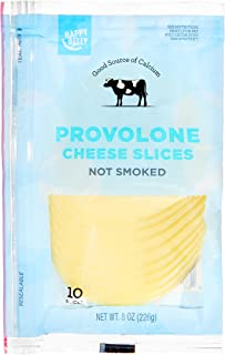 Amazon Brand - Happy Belly Sliced Provolone Cheese, 10 Slices, 8 Ounce Pack