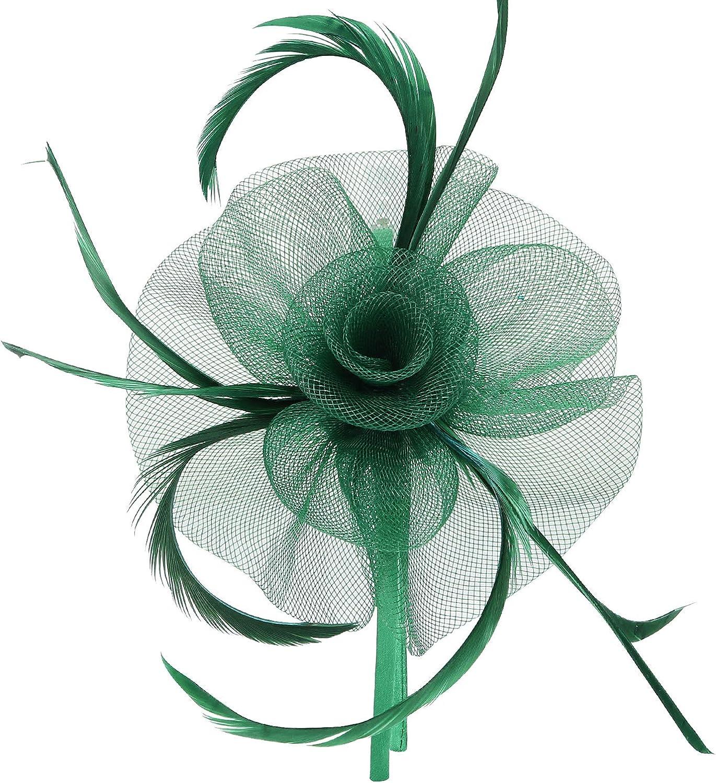 Acecharming Fascinators Hat Flower Sinamay Feather Headband Cocktail Tea Party Headwear Kentucky Derby Hat Girls and Women