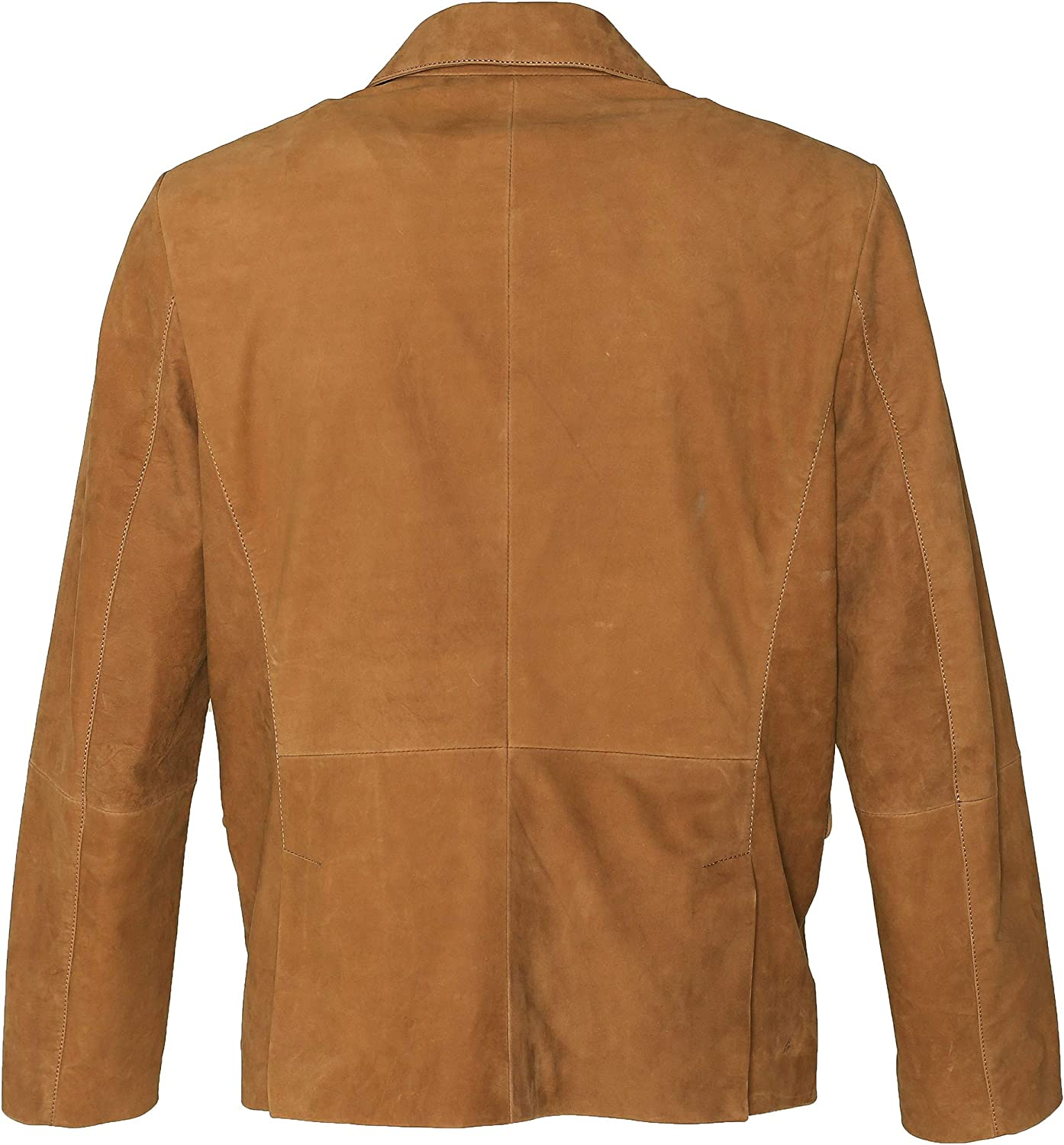 Mens Brown Suede Leather Casual Blazer