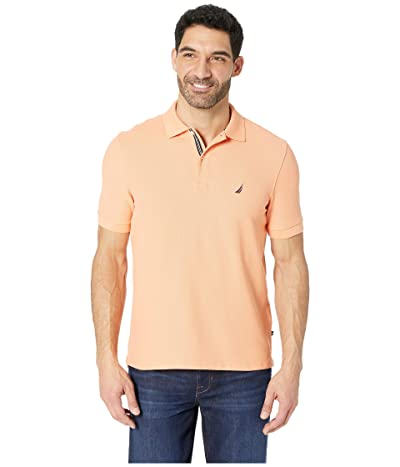 Nautica Short Sleeve Solid Performance Deck Polo (Guava Punch) Men