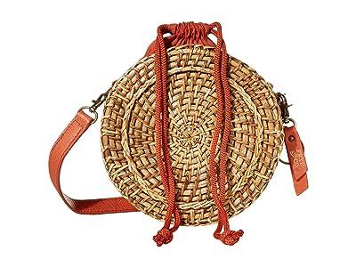 FRYE AND CO. Esme Straw Canteen Bag (Paprika) Handbags