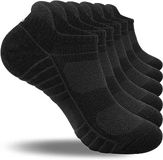 coskefy Running Socks Cushioned Trainer Socks Sports Socks Anti Blister Cotton Ankle Socks Low Cut Athletic Socks for Men ...