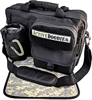 Active Doodie Dad Diaper Bag, Messenger Baby Bag for Men, Multi-Function Diaper Bag for Dad (Black)