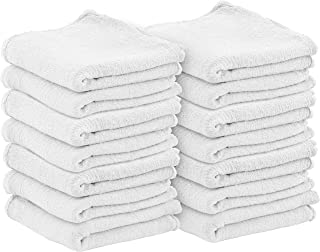 Utopia Towels Commercial Cotton Shop Towels - White Cleaning Rags (100 Pack)