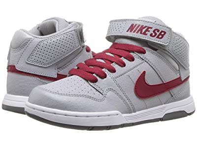 Nike Kids Mogan Mid 2 Jr (Little Kid/Big Kid) (Wolf Grey/Red Crush/White/Cool Grey) Boys Shoes