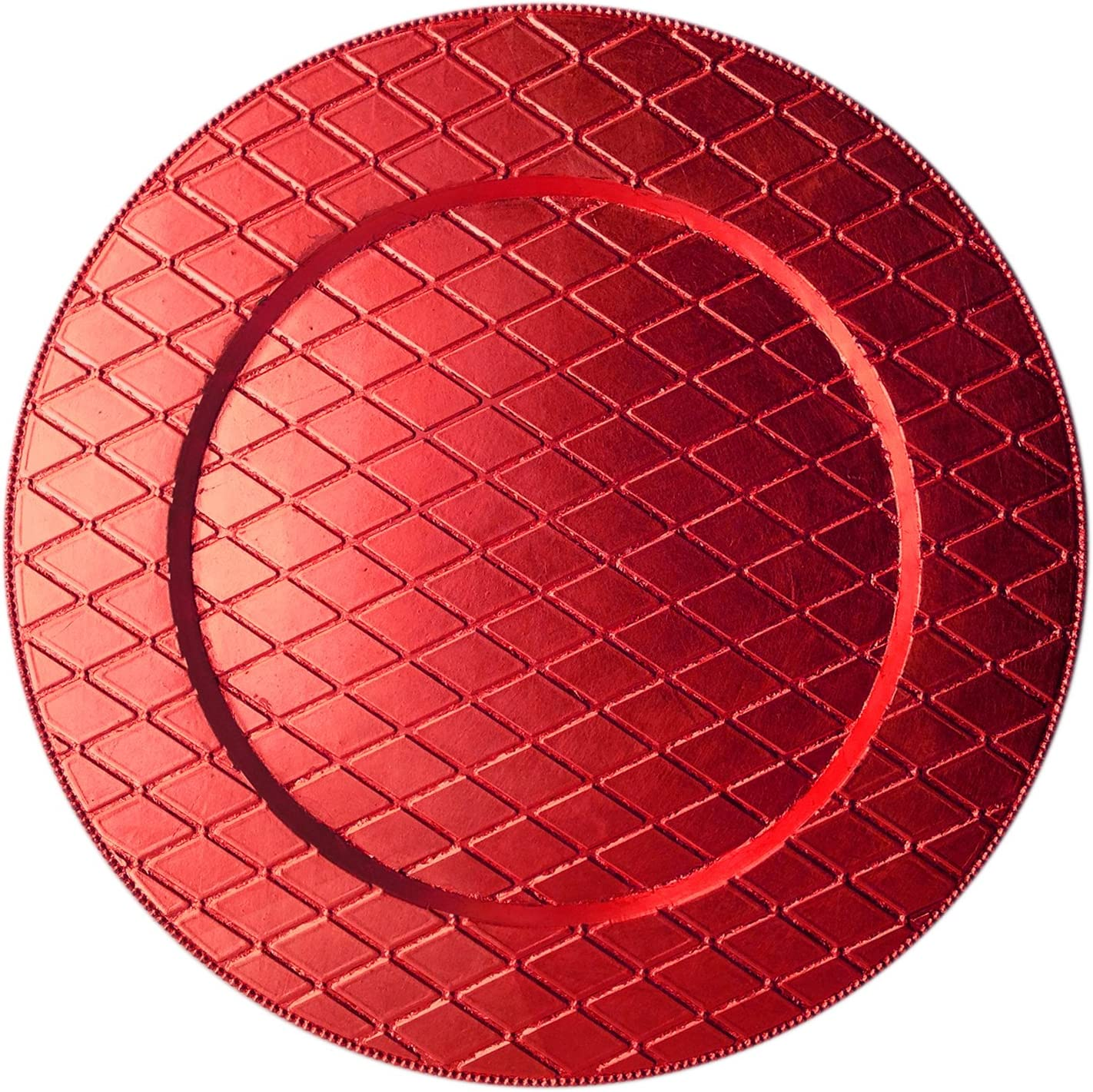 ChargeIt by Jay Plaid Design Free shipping / New Charger Max 42% OFF Plate Red