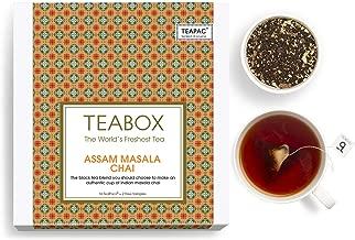 Teabox Assam Masala Chai Spiced Tea, 16 +2 Tea Bags