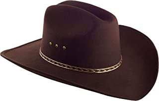 WESTERN EXPRESS Child Faux Felt Cowboy Hat Brown