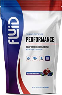 Fluid Performance - Low Sugar Endurance Fuel Sports Drink Mix with Electrolytes, All Natural Ingredients, Gluten-Free for ...