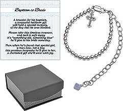 Baptism to Bride Cross Bracelet for Boys in Sterling Silver