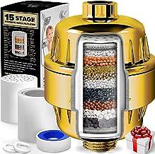 AquaHomeGroup 15 fasen douchefilter met vitamine C voor hard water - hoge output douchewaterfilter om chloor en fluoride t...