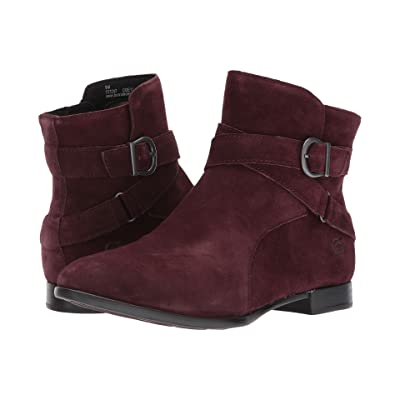 ada219933 Born Easton (Burgundy Suede) Women's Pull-on Boots