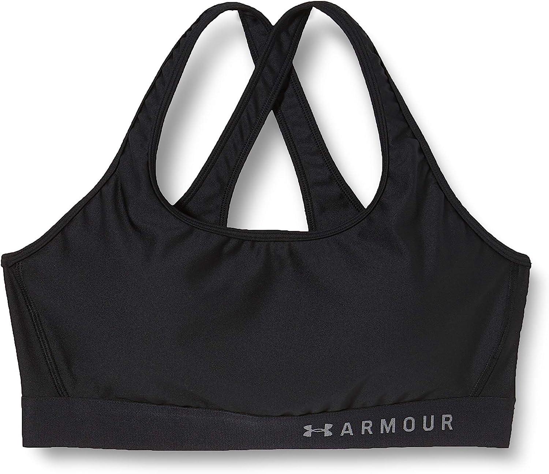 Under Armour Women's HeatGear Armour Mid Impact Crossback Sports Bra