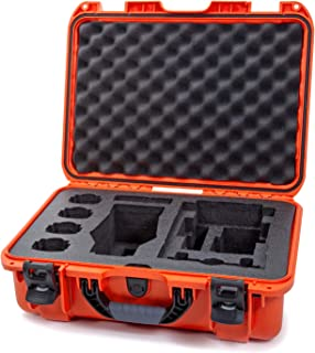 Nanuk 925 Waterproof Hard Case with Foam Insert for DJI Mavic 2 Pro|Zoom + Smart Controller, Crystalsky 5.5' or iPad   Orange