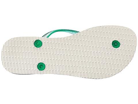 Havaianas Jaune Turquoisewhite Ivorywhite Greenwhite Menthe Paisage Mince Flops Flip Br6qB