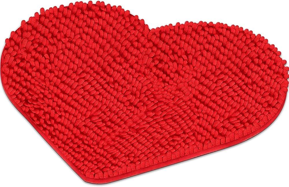 Mudder, tappeto, zerbino a forma di cuore, in tela, ciniglia, pvcn H7S4N2323