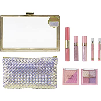 Beauty Clutch Sweetheart - The Color Workshop - Estuche de Maquillaje Transparente con Kit de Maquillaje Profesional Completo y Bolso Formato Clutch para Crear Todos tus Looks Favoritos: Amazon.es: Belleza