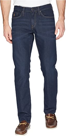 Slim Straight Jeans in Dark Blue Overdye