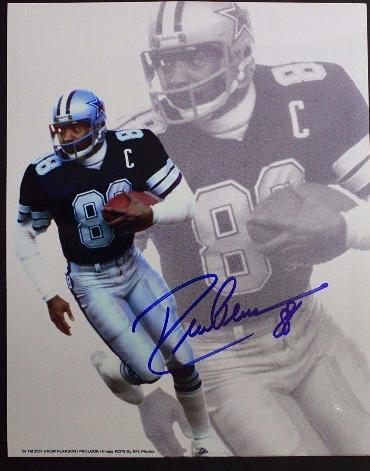 16D 8x10 Tulsa Photo Pearson Autographed Photos NFL