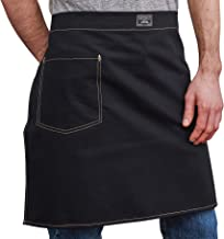product image for Artifact Unisex Culinary Waist Apron in Herringbone - Made in Omaha (Black)