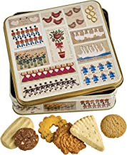 Farmhouse Biscuits 12 Days of Christmas Butter Biscuits Tin, Christmas Cookies Gift Box, 14 oz