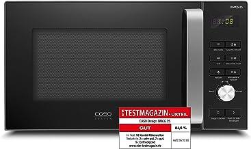CASO | BMCG25 - Microondas 3 en 1 con parrilla y aire caliente 1950 W | función de horno, 900 W, 1000 W, inscripción en alemán, 25 L, acero inoxidable
