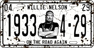 Midsouth Products Willie Nelson License Plate - 1933