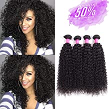 Malaysian Curly Hair Bundles Deep Weave 100% Unprocessed Remy Kinky Curly Human Hair Bundles Hair Weft Extensions Natural Black Color By Lovenea (8