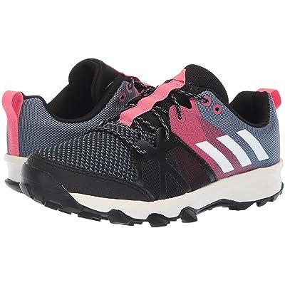adidas Kids Kanadia 8.1 (Little Kid/Big Kid) (Raw Steel/Off-White/Real Pink) Kid