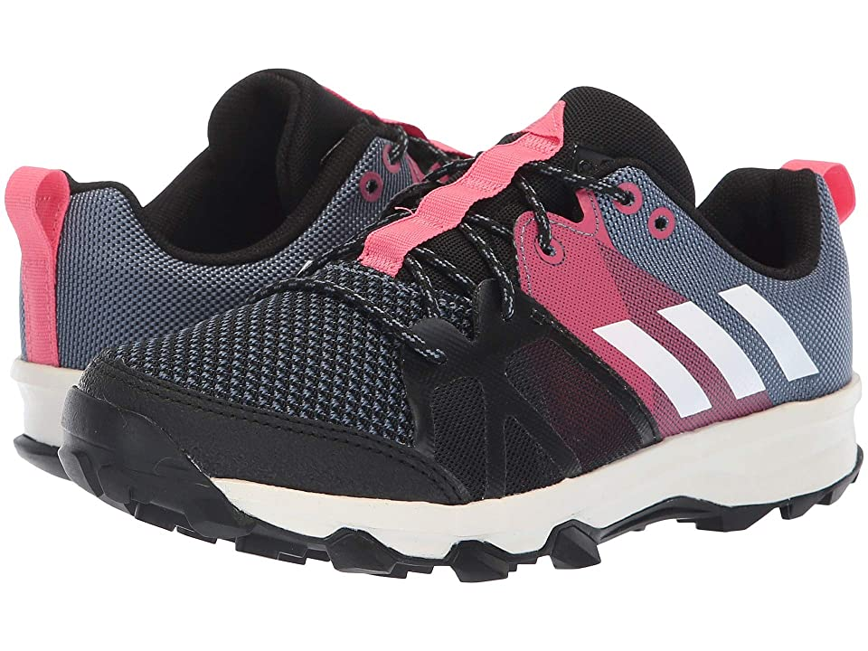 adidas Kids Kanadia 8.1 (Little Kid/Big Kid) (Raw Steel/Off-White/Real Pink) Kid