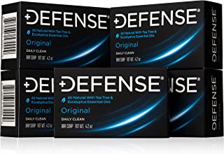 Defense Soap 4 Ounce Bar (Pack of 5) – 100 Percent Natural Pharmaceutical Grade Tea..