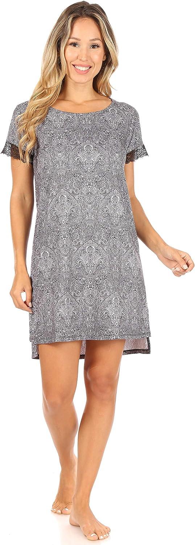Tahari Women's Short HiLo Sleepshirt Lowest price challenge Popularity Sleeve