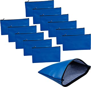 12 Pk Money Bags, Bulk Bank Deposit Bag with Zippers for Cash Deposits Receipts Business