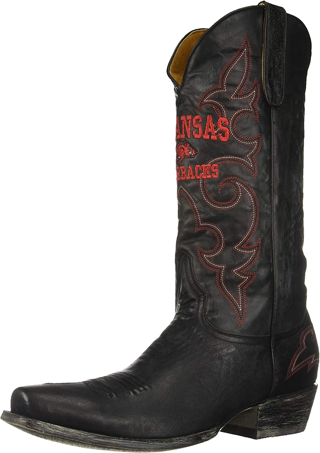 NCAA Arkansas Razorbacks Men's Board Room Style Boots