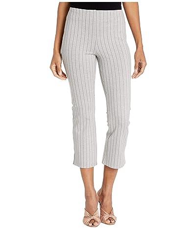 Lysse Cropped Stripe Kick Flare Pants in Lightweight Ponte (Stripe Granite Grey) Women