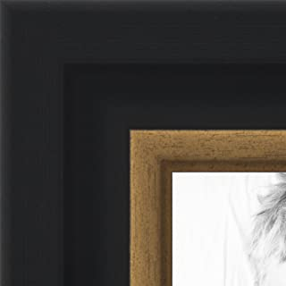 ArtToFrames 18x24 inch Black Velvet with Gold Picture Frame, WOMBW275-1230-18x24