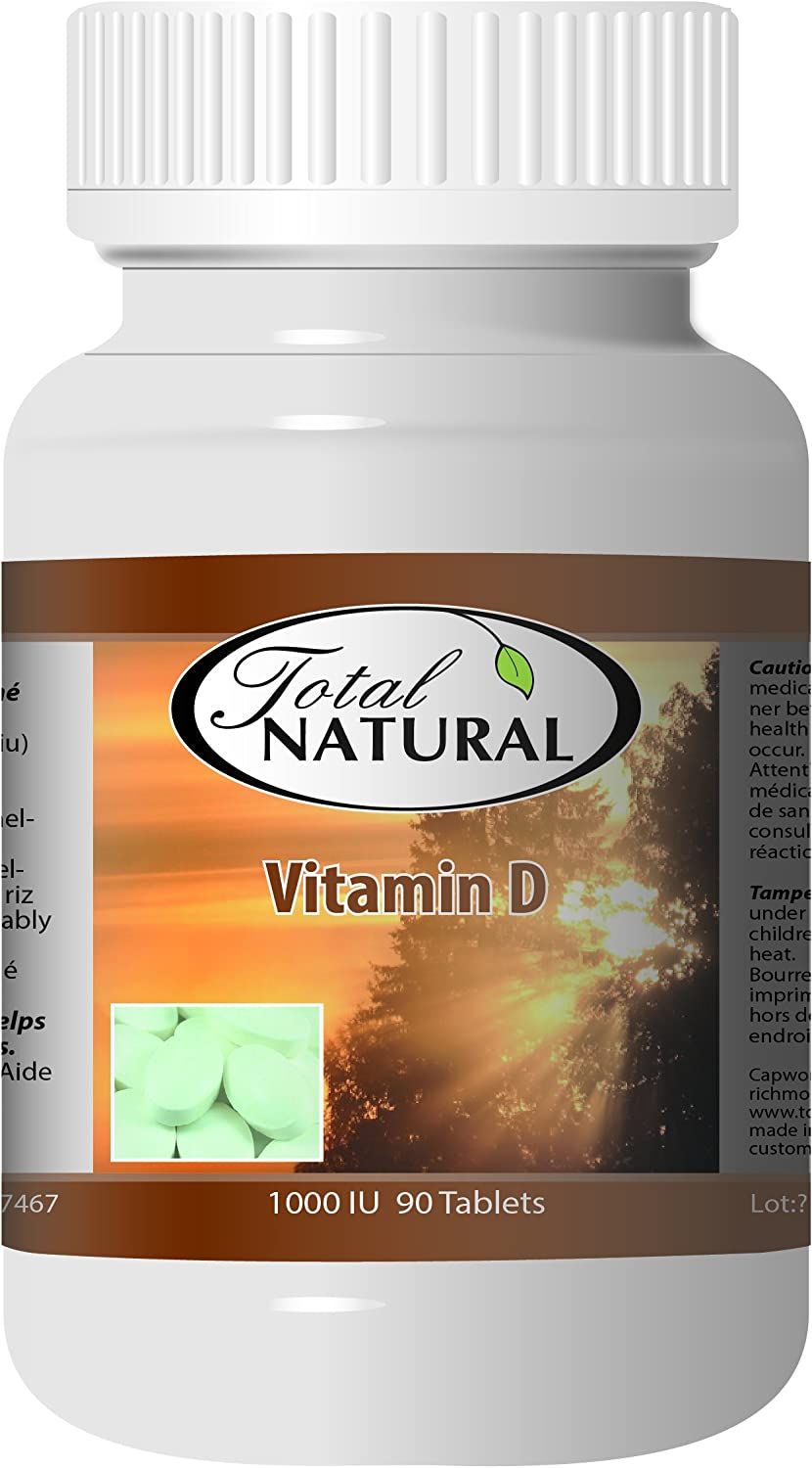 Vitamin D 1000 iu 90 NEW before selling ☆ Count Tablets Natural Total by Bottles SALENEW very popular! 12