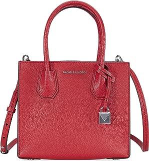 MICHAEL Michael Kors Women's Medium Mercer Messenger Bag, Bright Red, One Size