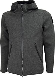 HOX XU3726 Double Jersey Hooded Overcoat Color Carbón