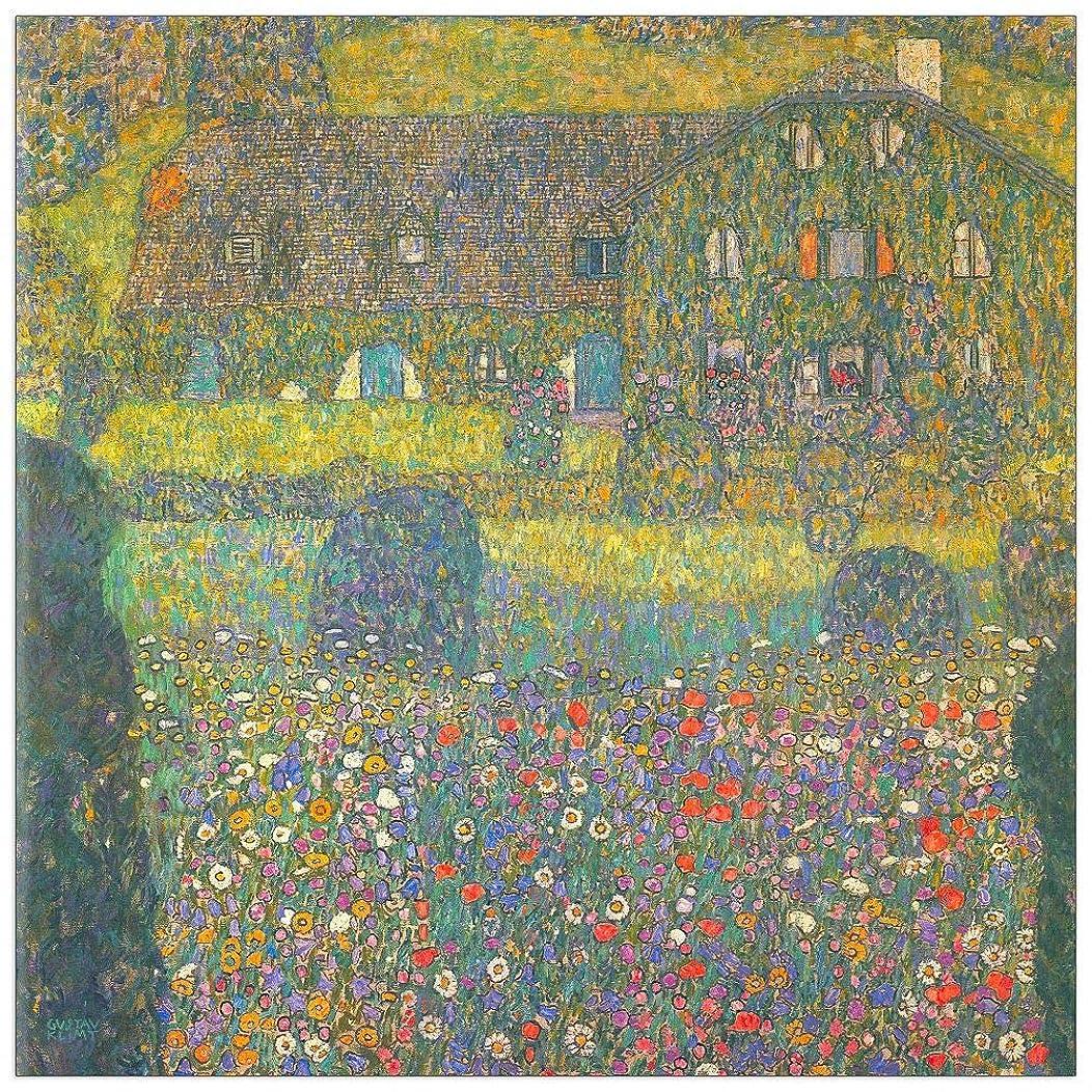 ArtPlaza TW90358 Klimt Gustav - House in Attersee Decorative Panel 15.5x15.5 Inch Multicolored