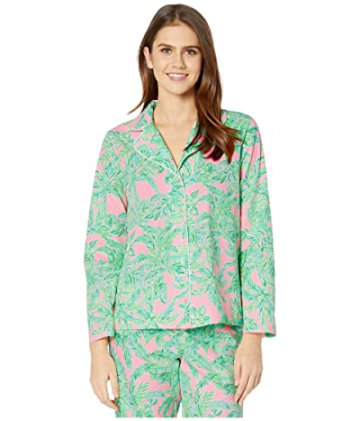 Lilly Pulitzer PJ Woven Top (Mandevilla Baby Pink Sand Paradise) Women