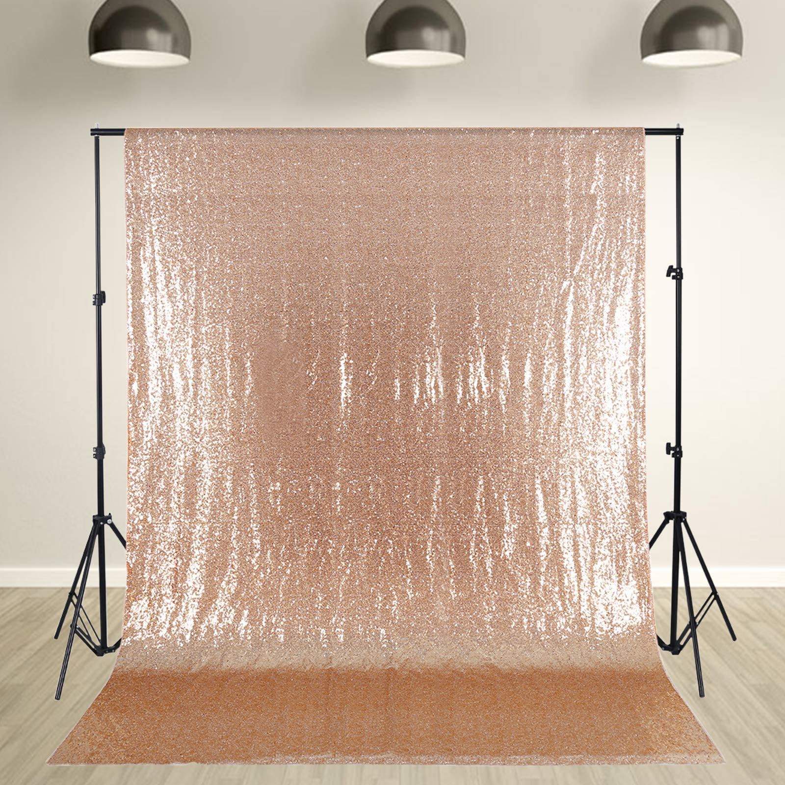 Rose Gold Sequin Drapes Silver Champagne Gold Thanksgiving SEAMLESS New Year, booth photo backdrop CHOOSE SIZEM Christmas